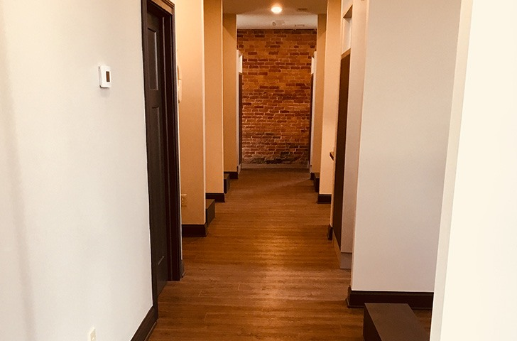 Hallway to treatment rooms