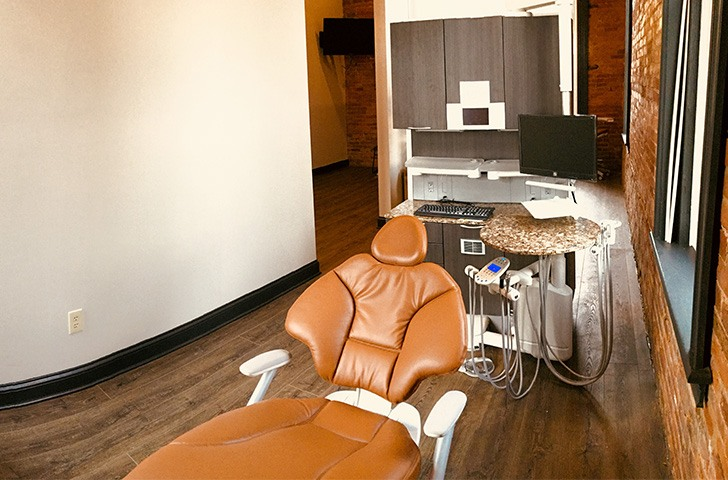 Comfortable dental exam chair