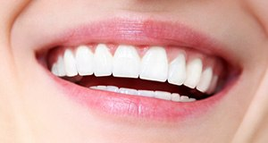 Closeup of strong healthy smile